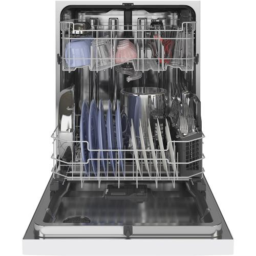 GE Stainless Steel Interior Dishwasher with Front Controls White - GDF645SGNWW