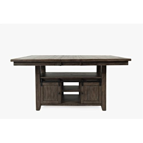 Madison County Pub Height Dining Table and 4 Ladderback Stools - Barnwood