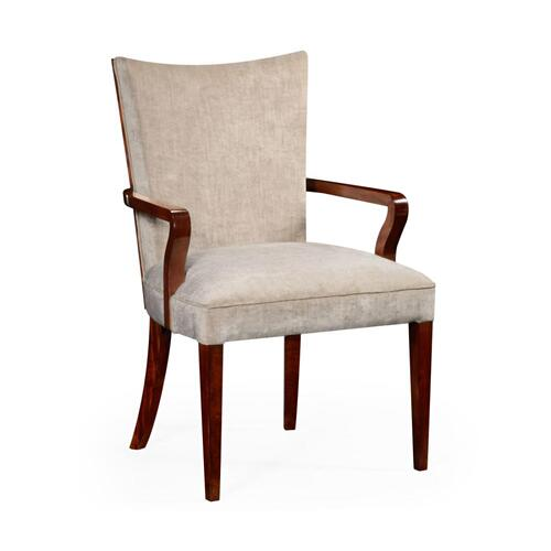 Biedermeier style dining armchair with fine MOP & marquetry inlay