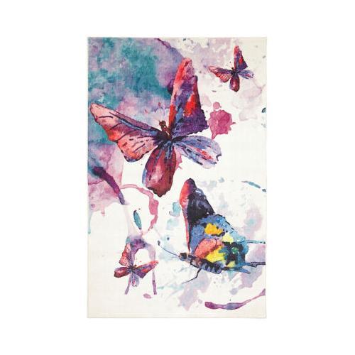 Mohawk - Watercolor Butterfli, Purple- Rectangle
