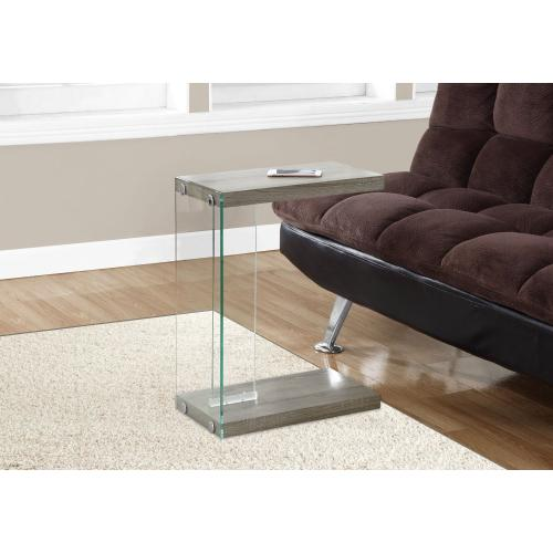 Gallery - ACCENT TABLE - DARK TAUPE WITH TEMPERED GLASS