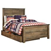 Trinell Full Panel Bed With 1 Large Storage Drawer