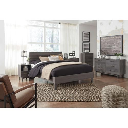 Queen Panel Headboard With Dresser and Chest