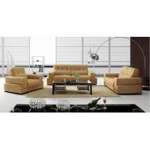 Divani Casa BO3911 Modern Light Brown Leather Sofa Set