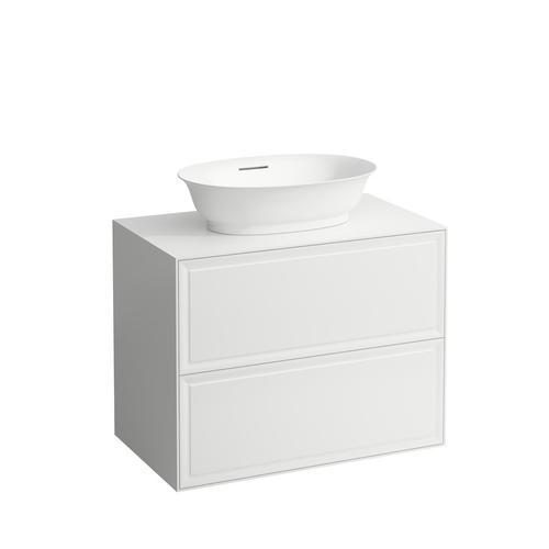 White Matte Drawer element 800, 2 drawers, matches bowl washbasins 812852, 812853