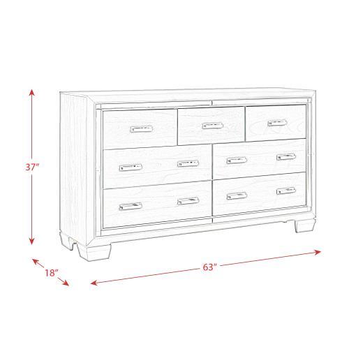 Titanium 7-Drawer Dresser