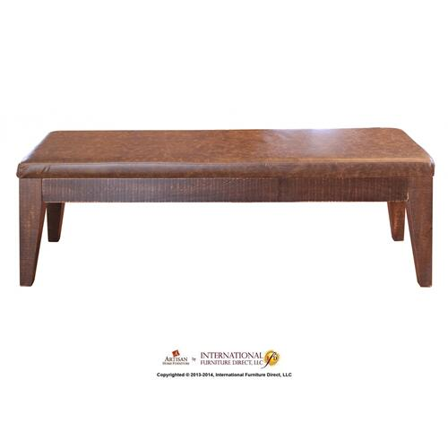 Artisan Home Furniture - Breakfast Bench w/ Bondedleather seat