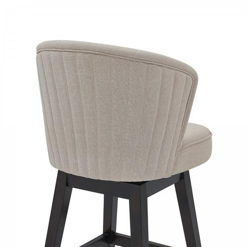 """Armen Living - Armen Living Brandy 26"""" Counter Height Barstool in Espresso Finish and Tan Fabric"""