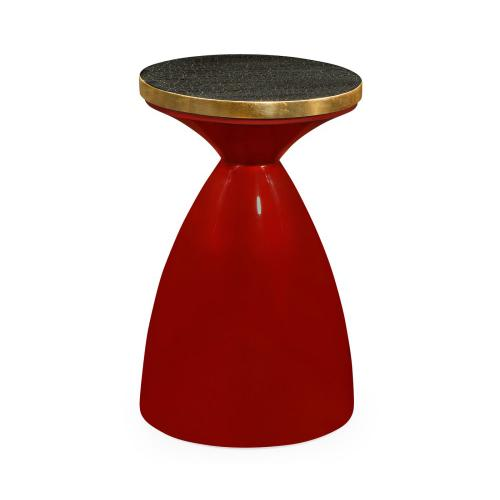Round Emperor Red & Charcoal Wine Table