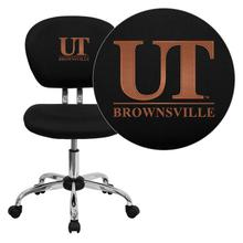 Texas at Brownsville Scorpions Embroidered Black Mesh Task Chair with Chrome Base