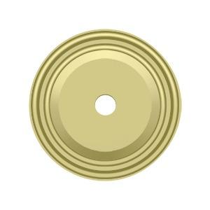 """Deltana - Base Plate for Knobs, 1-1/2"""" Diam. - Polished Brass"""