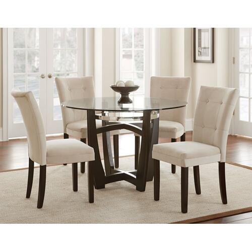 Matinee 48 inch Round Glass Top Dining Table