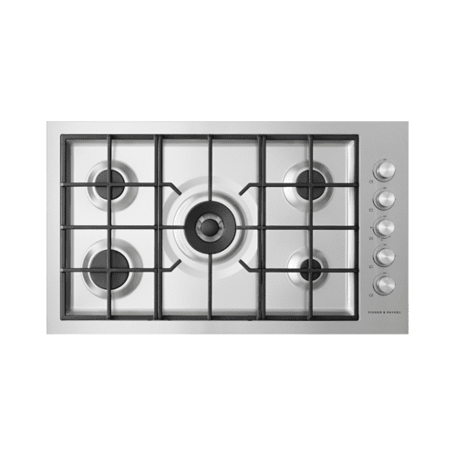 """Fisher & Paykel - Gas on Steel Cooktop, 36"""", Flush Fit, LPG"""