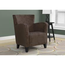 ACCENT CHAIR - BROWN BRUSHED VELVET FABRIC