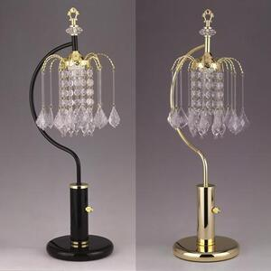 "Rain Drop Table Lamp 27""h Gold"