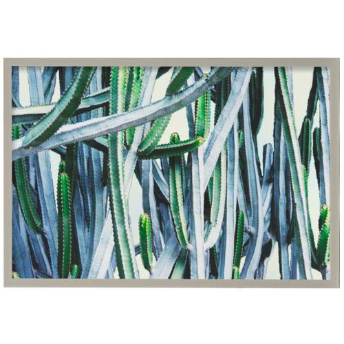 Style Craft - Green Crush I  Made in USA  Artist Print  Faux Wood Frame Under Glass  Attached Hanging Hardware