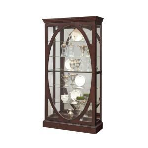 Pulaski Furniture - Oval-Framed Sliding 5 Shelf Curio Cabinet in Sable Brown