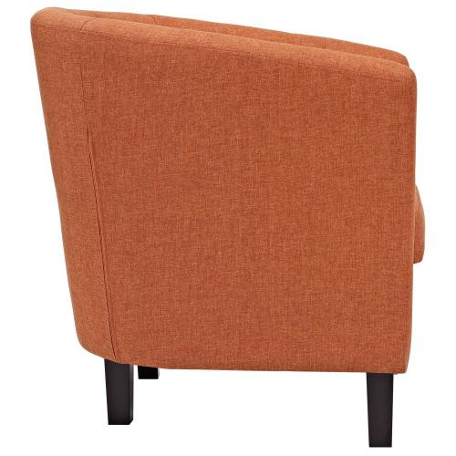 Prospect 2 Piece Upholstered Fabric Armchair Set in Orange