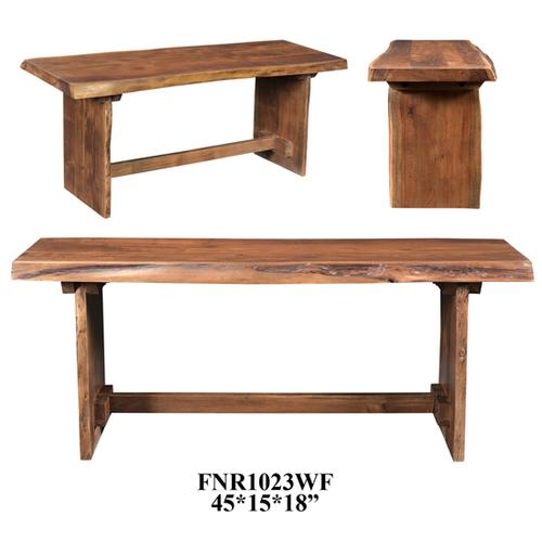 Crestview Collections - 45x15x18 Acacia Wooden Bench (Light finish),1 kd pk/2.77'
