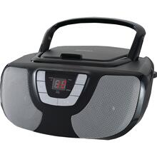 See Details - Portable CD Radio Boom Box (Black)