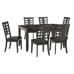 Canaan 7 Piece Dining Table Set, Black