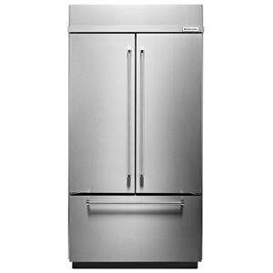 """24.2 Cu. Ft. 42"""" Width Built-In Stainless French Door Refrigerator with Platinum Interior Design - Stainless Steel Product Image"""
