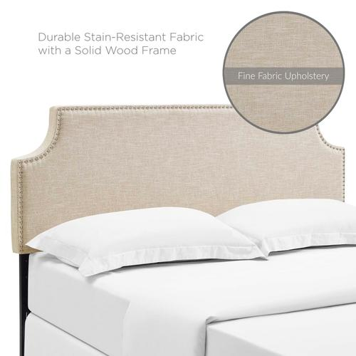 Modway - Laura Full Upholstered Fabric Headboard in Beige