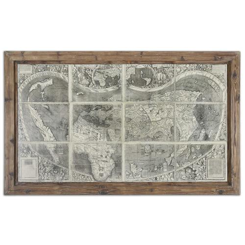 Treasure Map Oil Reproduction