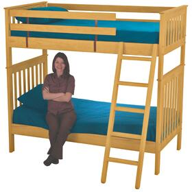 Bunkbed, Twin over Twin, tall, extra-long