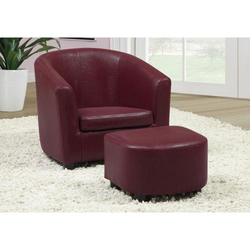 Gallery - JUVENILE CHAIR - 2 PCS SET / RED LEATHER-LOOK FABRIC