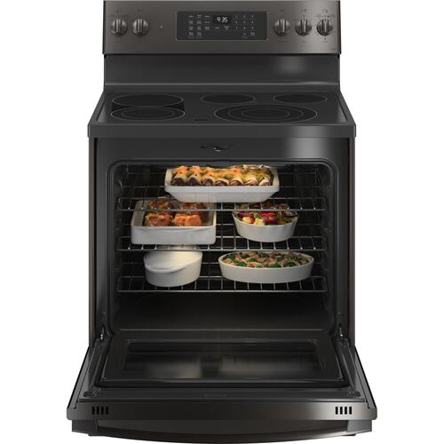 "GE Profile™ 30"" Smart Free-Standing Electric Convection Range with No Preheat Air Fry"