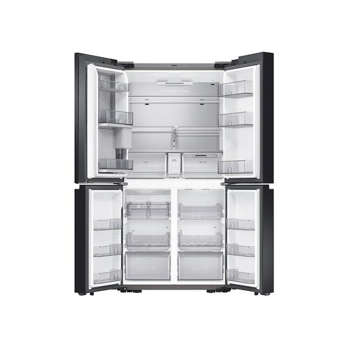 Samsung - 23 cu. ft. Smart Counter Depth BESPOKE 4-Door Flex™ Refrigerator with Customizable Panel Colors in Champagne Rose Steel