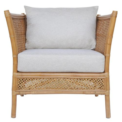Esai Rattan Accent Arm Chair, Canary Brown