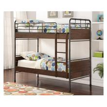 See Details - Pine Ridge Twin over Twin Metal and Wood Bunk Bed with options: Twin over Twin, Trundle