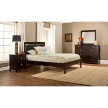 Metro 4pc Queen Espresso Bedroom with Martin Platform Bed