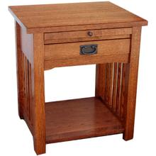 One Drawer Night Stand - 231/2W x 20D x 26H - With Pull-Out Tray