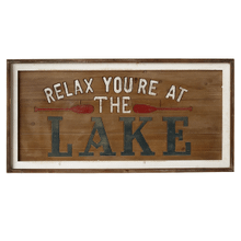 """Relax You're at the Lake"" Wall Decor"