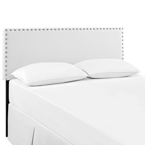 Modway - Phoebe King Upholstered Vinyl Headboard in White