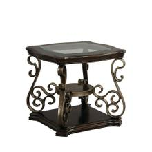 Seville End Table, Warm Burnished Bronze Base