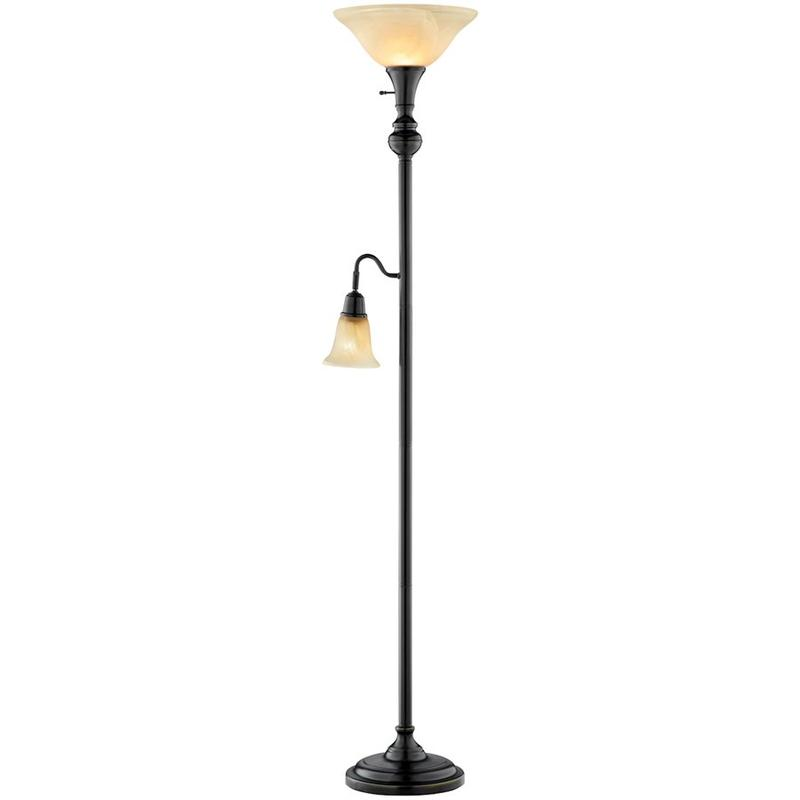 Tyne 2-light Torchiere Floor Lamp With Downlight