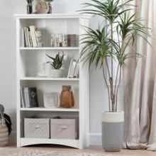 4-Shelf Storage Bookcase - Pure White
