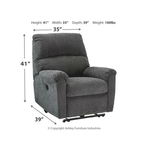 McTeer Power Recliner Charcoal