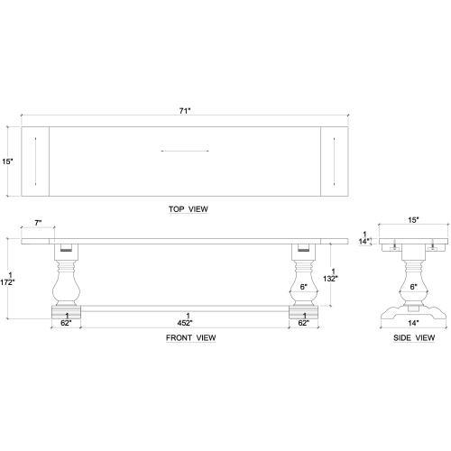 Trestle Dining Bench