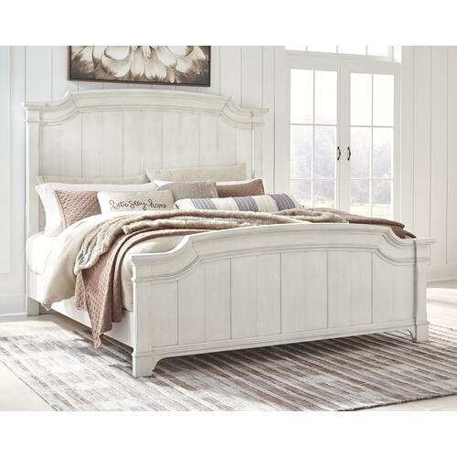 Nashbryn King Panel Bed Whitewash