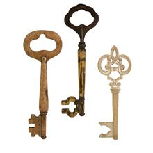 Mason Wood Wall Keys - Set of 3