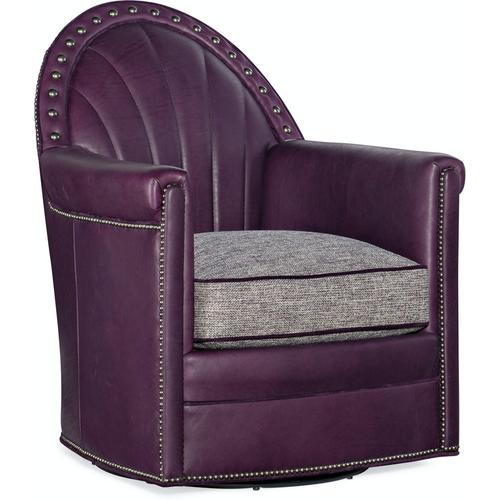 Bradington Young Battier Swivel Chair 8-Way Hand Tie 412-25SW