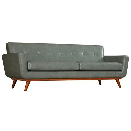 Tov Furniture - Lyon Smoke Grey Leather Sofa