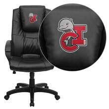 California State University - Channel Islands Dolphins Embroidered Black Leather Executive Office Chair