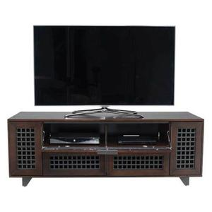 "Walnut AV Stand For TVs up to 70"" and 100 lbs / 45 kg"