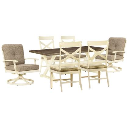 See Details - Outdoor Dining Table and 6 Chairs